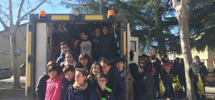 Alumnes de La Salle Alcoi en el simulacre d'emergències i Seguretat Pública