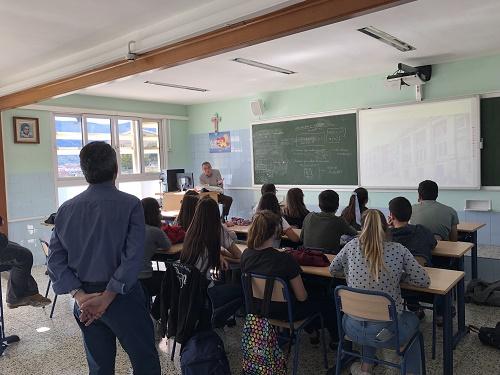 Charla histórica para alumnos de ESO-BAC en La Salle Alcoi