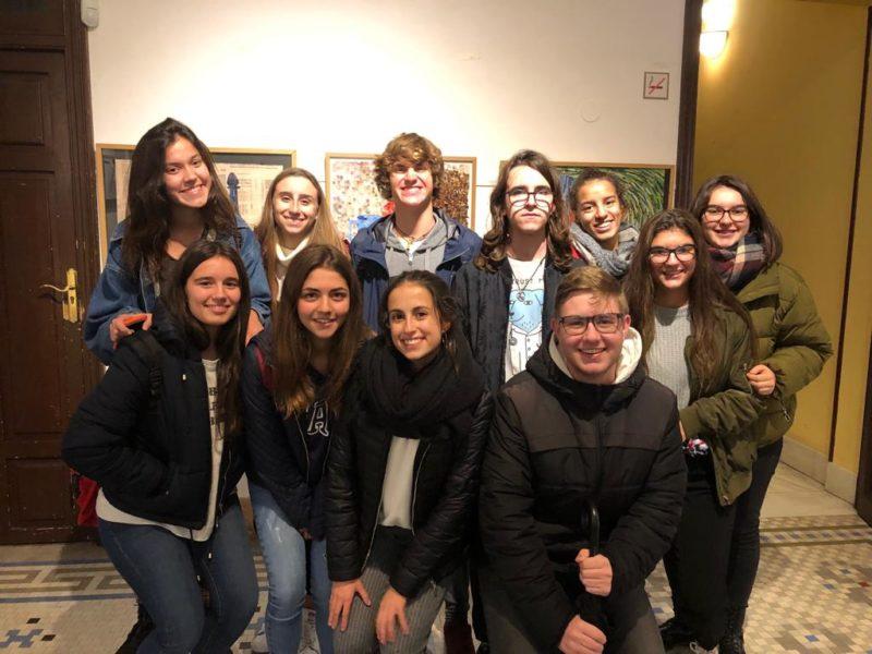 """Alumnes de Batxillerat de La Salle Alcoi en la conferència sobre """"El Constitucionalisme espanyol del segle XIX"""""""