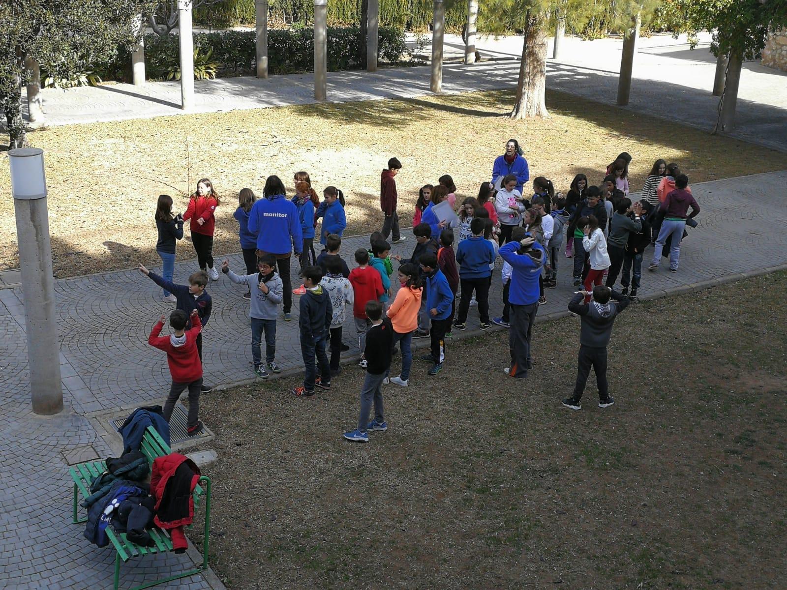 Primera jornada de los alumnos de La Salle Alcoi en Llíria en la semana de inmersión lingüística