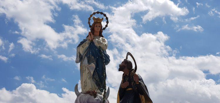 La Virgen de los Lirios se despide de La Salle Alcoi