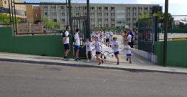 La Salle Alcoi rep la visita de la torxa olímpica