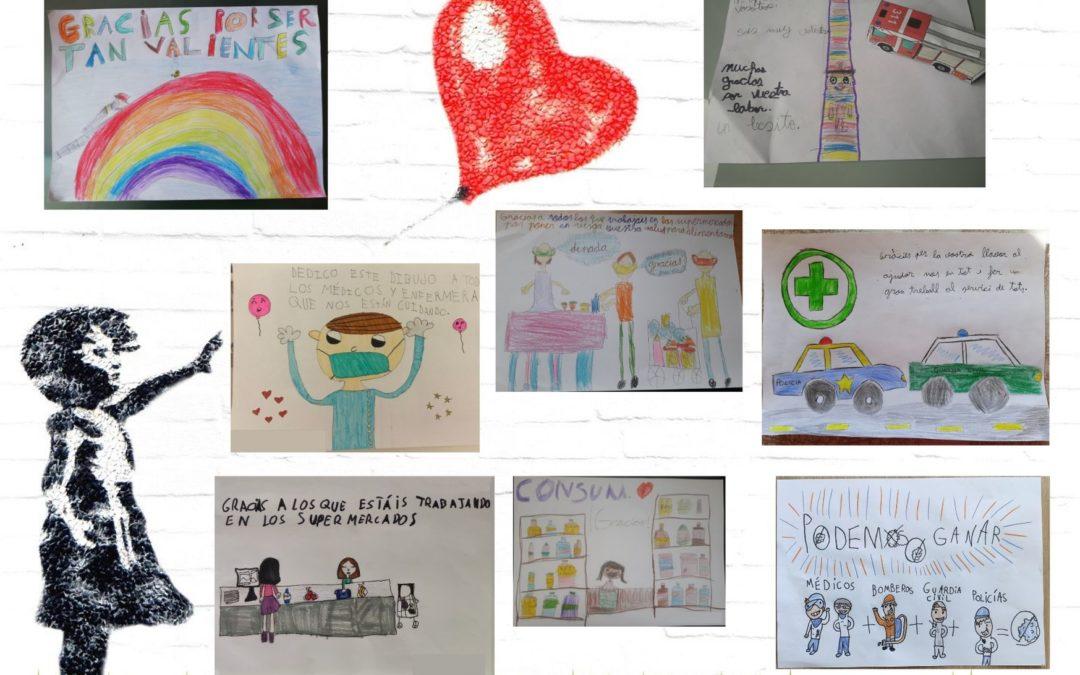 Los niños y niñas de La Salle Alcoi, envían mensajes de apoyo