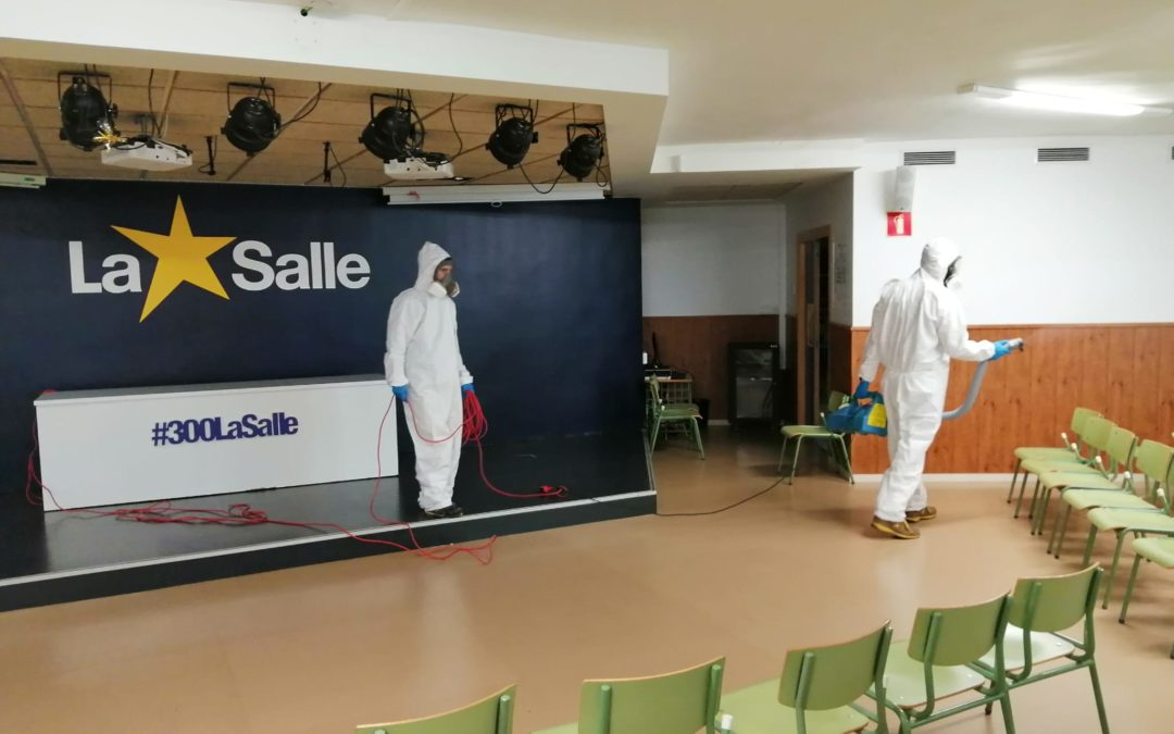 Limpieza y desinfección en La Salle Alcoi